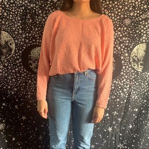 Peachy Pink Zara Cropped Sweater